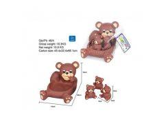 Пищалка OSB9903 мишка с медвежатами,в сетке 14*20*14см