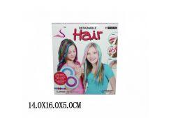 """Косметика """"Мелки для волос"""" 89020 с мягкими крышечками для зажима волос"""