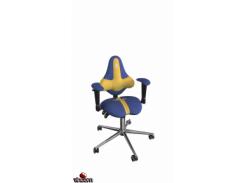 Кресло Kulik System Kids ring base, антара, медовый+кобальт (ID 1501) Кресло Kulik System KIDS Blue/Yellow