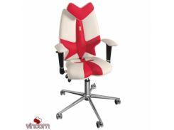 Кресло Kulik System Fly экокожа, красный+белый (ID 1301)