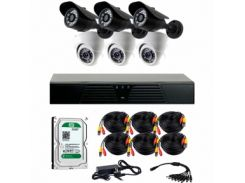 Комплект AHD видеонаблюдения CoVi Security AHD-33WD KIT + HDD1000