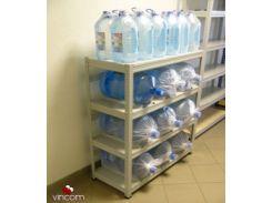 Стеллаж Практик SB 125/100x42/4 для хранения воды серый Стеллаж SB 125/100x42/4 для хранения воды серый