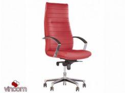 Кресло Новый Стиль IRIS steel chrome tilt (Экокожа)