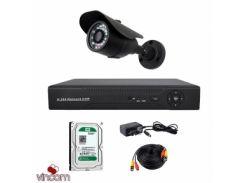 Комплект AHD видеонаблюдения CoVi Security ADH-01W KIT + HDD500