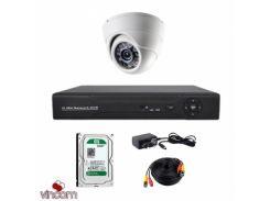 Комплект AHD видеонаблюдения CoVi Security AHD-01D KIT + HDD500