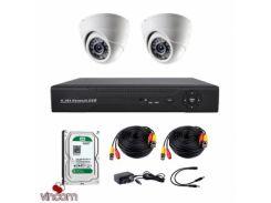 Комплект AHD видеонаблюдения CoVi Security AHD-2D KIT + HDD500