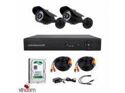 Комплект AHD видеонаблюдения CoVi Security AHD-2W KIT + HDD500