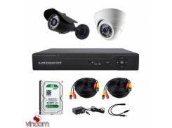 Комплект AHD видеонаблюдения CoVi Security AHD-11WD KIT + HDD500