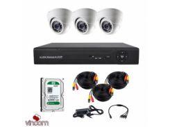 Комплект AHD видеонаблюдения CoVi Security AHD-3D KIT + HDD500