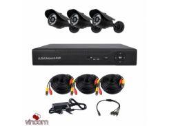 Комплект AHD видеонаблюдения CoVi Security AHD-3W KIT