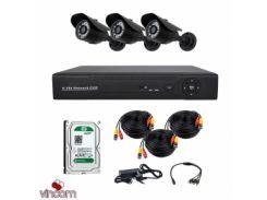 Комплект AHD видеонаблюдения CoVi Security AHD-3W KIT + HDD500