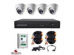 Комплект AHD видеонаблюдения CoVi Security AHD-4D KIT + HDD500