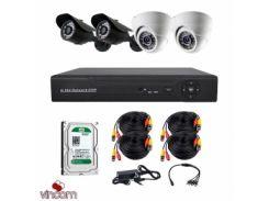 Комплект AHD видеонаблюдения CoVi Security AHD-22WD KIT + HDD500
