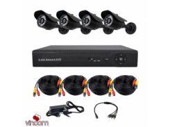 Комплект AHD видеонаблюдения CoVi Security AHD-4W KIT