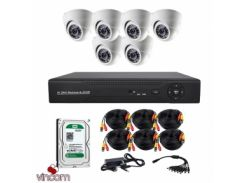 Комплект AHD видеонаблюдения CoVi Security AHD-6D KIT + HDD1000