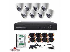 Комплект AHD видеонаблюдения CoVi Security AHD-8D KIT + HDD1000