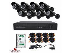 Комплект AHD видеонаблюдения CoVi Security AHD-8W KIT + HDD1000