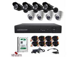 Комплект AHD видеонаблюдения CoVi Security AHD-44WD KIT + HDD1000