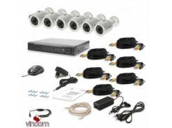 Комплект видеонаблюдения Tecsar AHD 6OUT LUX
