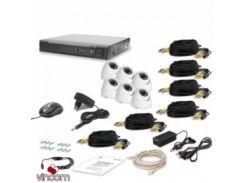 Комплект видеонаблюдения Tecsar AHD 6OUT-DOME LUX
