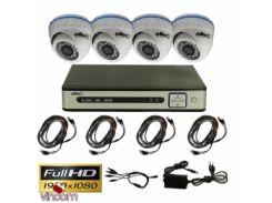 Комплект FullHD видеонаблюдения Oltec AHD-QUATTRO-FullHD Dome