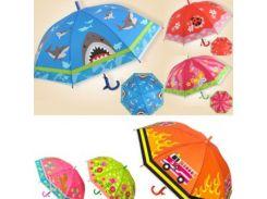 Зонтик BT-CU-0017 цветной 6рис.50см ш.к./100/