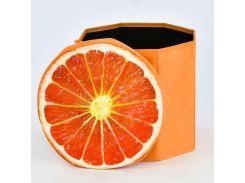 Пуфик-короб для хранения игрушек Апельсин в п/э 34*36*5см /30/