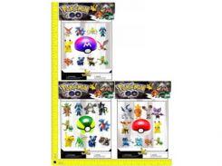 """Покемоны + покебол BT-PG-0008 """"Pokemon GO"""" 10 фигурок по 2"""", шар 7см 3в.лист ш.к./72/"""