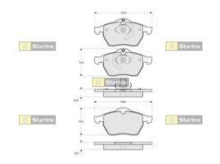 Колодки тормозные дисковые, к-кт. STARLINE S BD S122, Вектра, Астра