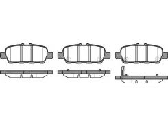 Колодки тормозные дисковые, к-кт. ROADHOUSE RH 2876.31, Жук, Кашкай, Теана, Х-трейл