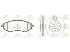 Комплект Aveo:диски+колодки ROADHOUSE RH 8986.00, Авео