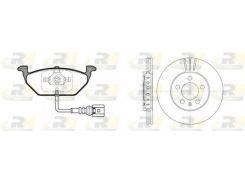 Комплект Skoda:диски+колодки ROADHOUSE RH 8633.10, Фабия