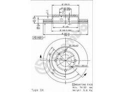 Диск тормозной BREMBO 09.5449.14, Альмера, Примера