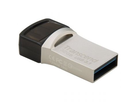 Накопитель USB 3.1 TRANSCEND Type-C 890 32GB  (TS32GJF890S) Киев