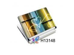 наклейка на ноутбук easy link h13148 намальоване світлом серце