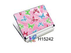 наклейка на ноутбук easy link h15242 кольорові метелики на рожевому
