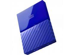 жесткий диск wd usb3.0 4tb my passport blue wdbyft0040bbl-wesn