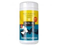 чистящее средство patron салфетки для оргтехники влажные, туба 100шт f4-002