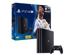 Игровая приставка SONY Playstation 4 Pro 1Tb Black (FIFA 18/ PS+14Day)