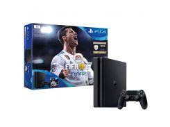Игровая приставка SONY Playstation 4 Slim 1Tb Black (FIFA 18/ PS+14Day)