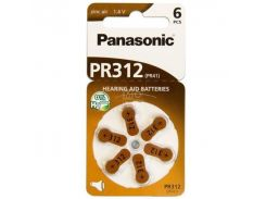 Батарейка Panasonic PR-312 BLI 6