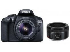 Фотоаппарат Canon EOS 1300D + 18-55 DCIII + 50mm 1.8 (1160C083)