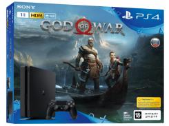 Игровая приставка SONY PlayStation 4 Slim 1Tb Black (God of War) (9385172)