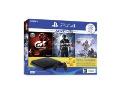 Игровая приставка SONY PlayStation 4 Slim 500 Gb Black (Horizon Zero Dawn + Gran Turismo Sport + Uncharted 4: Путь вора + PSPlus 3 месяца) (9395270)