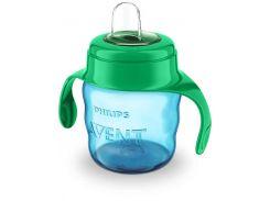 Чашка-непроливайка Avent с мягким носиком голубая 200 мл 6+ 1 шт. (SCF551/05)