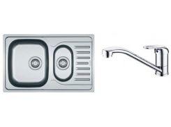 Кухонная мойка Franke PXL 651-78 (Комплект в коробке со смесителем Narew 35 Plus) Декор (101.0444.132)
