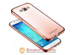 Samsung J2 Prime чехол Electroplating rose