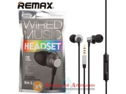 Гарнитура наушники Remax RM-512 black