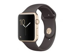 Apple 42mm Gold Aluminum Case with Cocoa Sport Band (MNNN2)