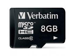 Silicon-Power microSDHC 8 GB card Class 10 + adapter
